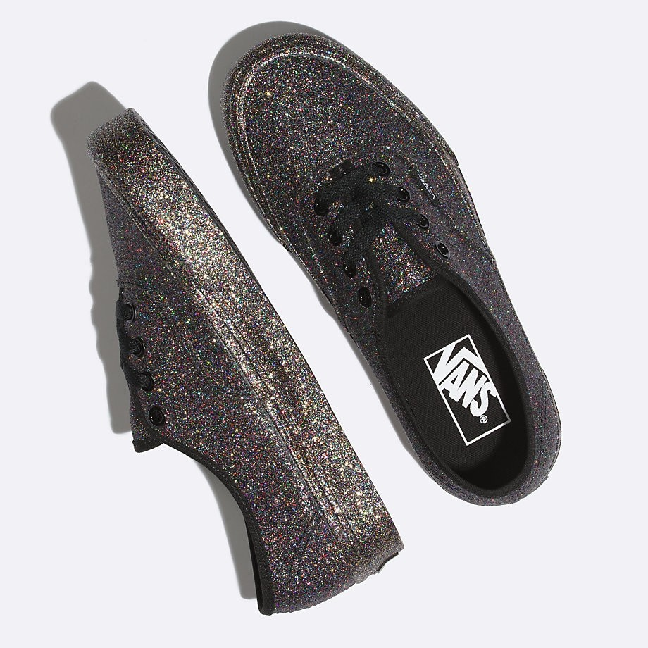 Exclusive New Authentic Vans Old Skool Glitter Rainbow Skate