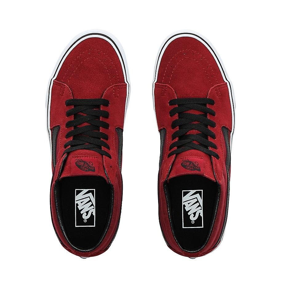 vans sk8 mid cipő biking red