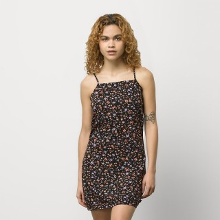 COVERED DITSY WOVEN DRESS